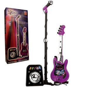 Reig Musicales 844 - Guitare électrique à 4 cordes + Flash micro + Baffle
