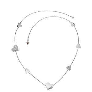 Guess UBN11434 - Sautoir Coeurs argentés pour femme