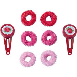 Haba Pinces à cheveux et serres-nattes Fille rose