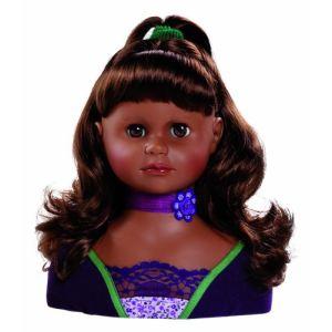 Paola Reina Tête à coiffer métisse 23 cm