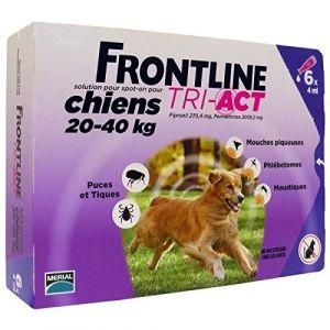 Frontline Tri-Act Chiens 20-40 Kg Boite de 6 Pipettes