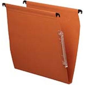 Esselte Paquet de 25 dossiers suspendus kori pour armoire en karft (fond : 15 mm)