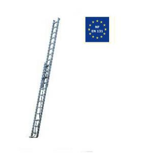 Escalux Echelle Aluminium semi-pro coulissante à corde 2x13 Haut travail 6,92 m