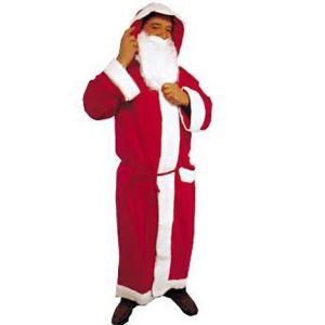 César Déguisement Père Noel en tissu + barbe