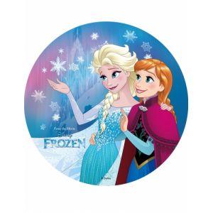Disque azyme Anna et Elsa La Reine des Neiges 20 cm