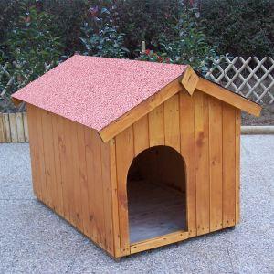 Foresta Niche pour chien en bois avec toit bitumé et plancher Guimauve
