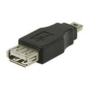 Valueline VLCP60902B - Adaptateur USB 2.0 type A femelle vers mini USB à 5 broches mâle