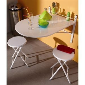 Table murale Letitia avec 2 tabourets