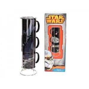 SD Toys Set de 3 mugs Death Star And Millenium Falcon Battle Star Wars empilables