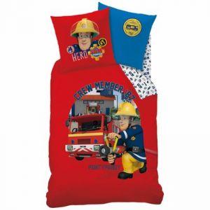housse de couette pompier 200x200 comparer 22 offres. Black Bedroom Furniture Sets. Home Design Ideas