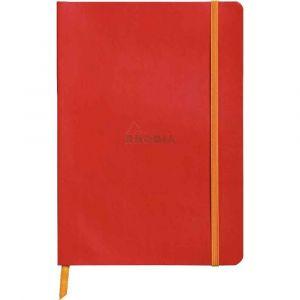 Rhodia 117413C Rhodiarama coquelicot - Carnet souple format 14,8x21 cm 160 pages