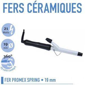 Promex 211 023 - Fer à friser céramique spring 19 mm