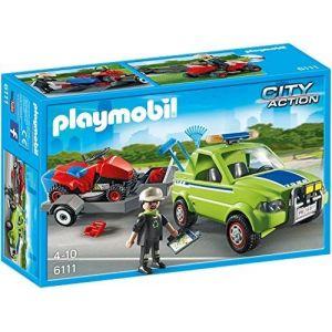 Playmobil 6111 City Action - Jardinier avec véhicule et tracteur tondeuse