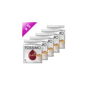 Tassimo 5 paquets de 16 dosettes T-Discs Suchard Chocolat