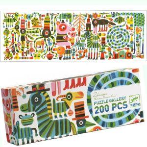 Djeco Gallery Zebrissimo - Puzzle 200 pièces