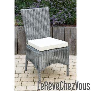 chaise resine tressee gris comparer 123 offres. Black Bedroom Furniture Sets. Home Design Ideas