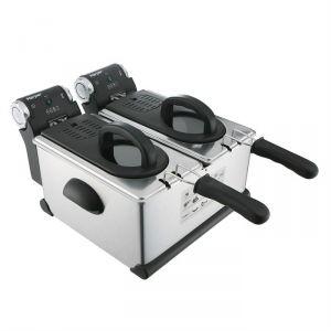 Harper DF 6000 - Friteuse électrique professionnel 2 bacs