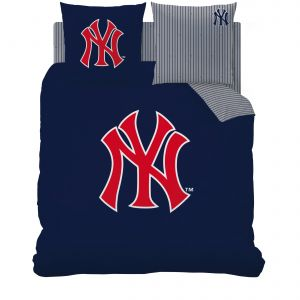 Cti New York Yankees - Housse de couette et 2 taies 100% coton (220 x 240 cm)
