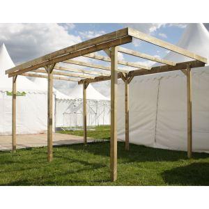 Chalet et Jardin Imperia - Carport 1 voiture en bois avec couverture PVC 15 m2