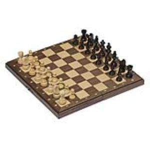 Goki Jeu d'échecs magnétique dans une boîte en bois pliable
