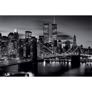 poster new york noir et blanc comparer 30 offres. Black Bedroom Furniture Sets. Home Design Ideas