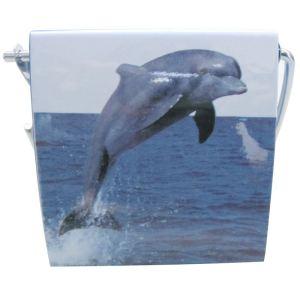 Porte rouleau de papier WC décor Dauphin
