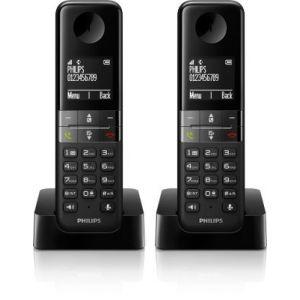 philips d4502b t l phone sans fil 2 combin s comparer. Black Bedroom Furniture Sets. Home Design Ideas