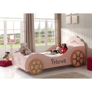 Vipack Furniture Lit voiture Princesse pour fille 90 x 200 cm