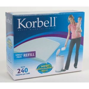 Korbell KR250DR1B - Recharges pour poubelle à couche