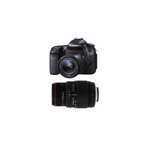 Canon EOS 70D (avec 2 objectifs 18-55mm et Sigma 70-300mm)