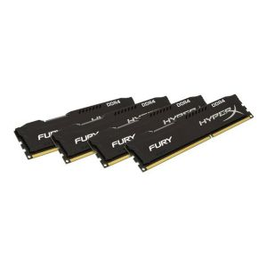 Kingston HX424C15FBK4/64 - Barrette mémoire HyperX FURY DDR4 64 Go (4 x 16 Go) DIMM 288 broches