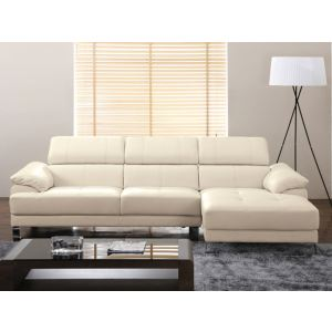 Canapé d'angle droit Excelsior II en cuir