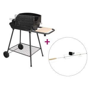 Somagic Barbecue vertical Bi-Cuisson + kit tourne broche
