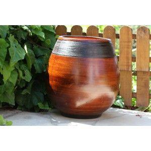 Clair de Terre Cheyennes - Poterie en terre cuite émaillée forme jarre Ø27 x 38 cm