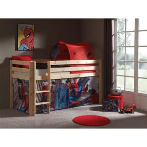Lit mezzanine Pino avec housse Spiderman