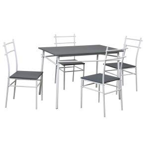 Table de cuisine Mulko avec 4 chaises