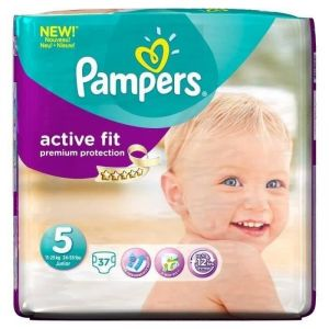 Pampers Active Fit taille 5 Junior 11-25 kg - Géant x37 couches