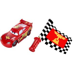 Mattel Voiture Cars Flash Mcqueen Drapeau Super Action
