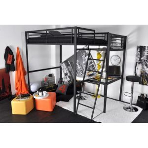 lit mezzanine avec bureau comparer 380 offres. Black Bedroom Furniture Sets. Home Design Ideas