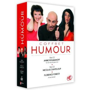 Coffret Humour - Anne Roumanoff + Florence Foresti + Nicolas Canteloup