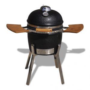 VidaXL Kamado - Barbecue au charbon de bois en céramique 81 cm
