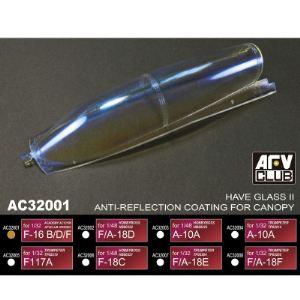 AFV Club AC32001 - Accessoires pour vitrines : revêtement anti-reflets F-16 B/D/F - Echelle 1:32