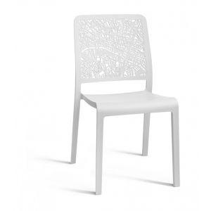 Evolutif Charlotte City - Chaise de jardin en résine