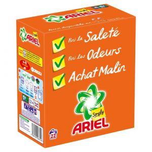 Ariel Simply Lessive poudre Régulier 22 doses