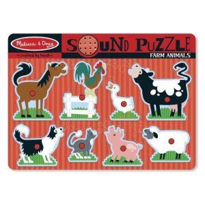 Melissa & Doug Puzzle sonore Animaux de ferme
