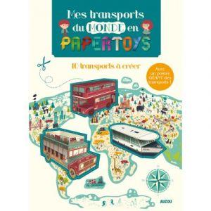 Editions Auzou Livre Papertoys Les Transports du monde