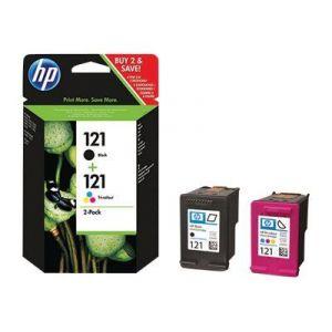 HP CN637HE - Cartouches d'encre n°121 noir et couleur (cyan, magenta, jaune)