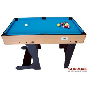 BCE Riley Table multi jeux 12 en 1 pliable bois