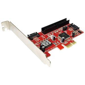 Logilink PC0003A - Contrôleur de stockage PCIe 2 ports SATA + 1 port ATA133