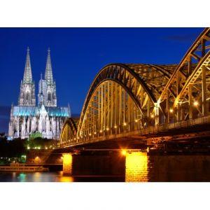 Grafika Cathédrale et pont Hohenzollern de Cologne - Puzzle 2000 pièces